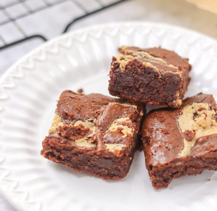 Receita de Brownie com Manteiga de Amendoim Sem Glúten